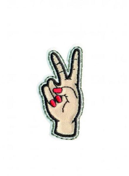 M Peace - iron on  5 cm