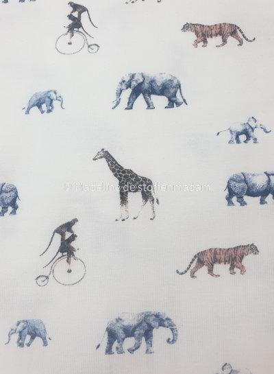 M safari animals offwhite - jersey