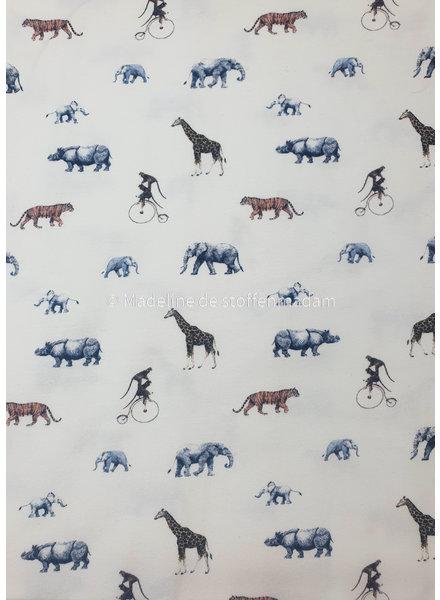 M safari dieren ecru - tricot