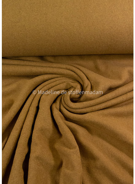 Swafing mosterd - zachte, vormvaste gebreide stof