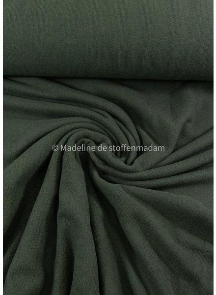 Swafing donkergroen - zachte, vormvaste gebreide stof
