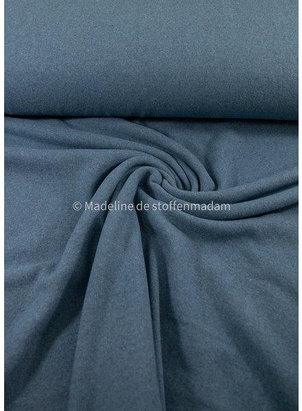 Swafing blauw- zachte, vormvaste gebreide stof