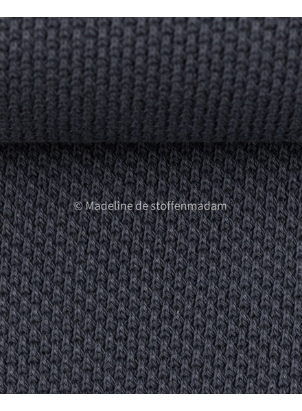 Swafing beautiful knitted textured fabric - navy