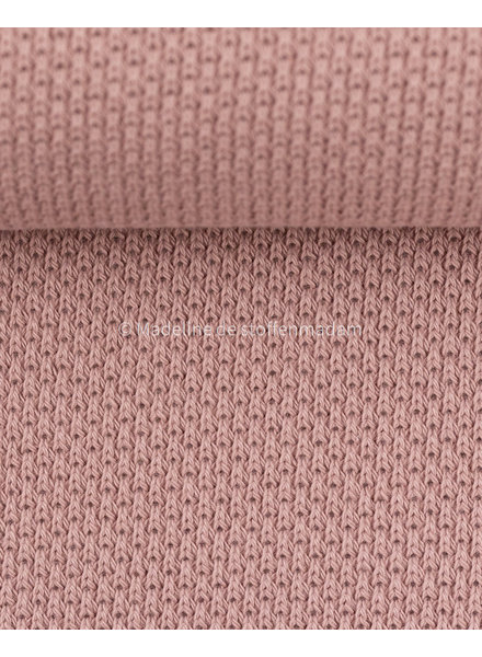 Swafing beautiful knitted textured fabric - dusty pink