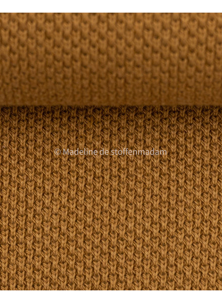 Swafing beautiful knitted textured fabric - mustard
