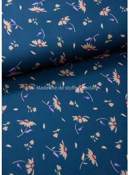 Editex petrolblauw neon accent - supple fabric