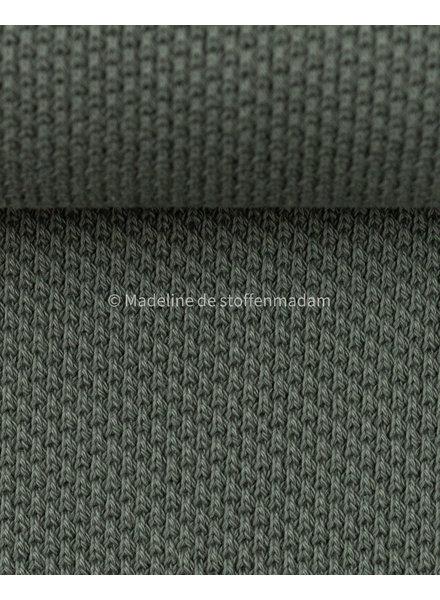 Swafing beautiful knitted textured fabric - khaki