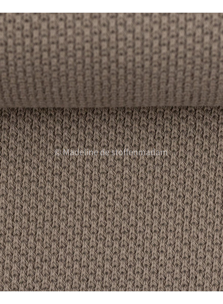 Swafing beautiful knitted textured fabric - taupe