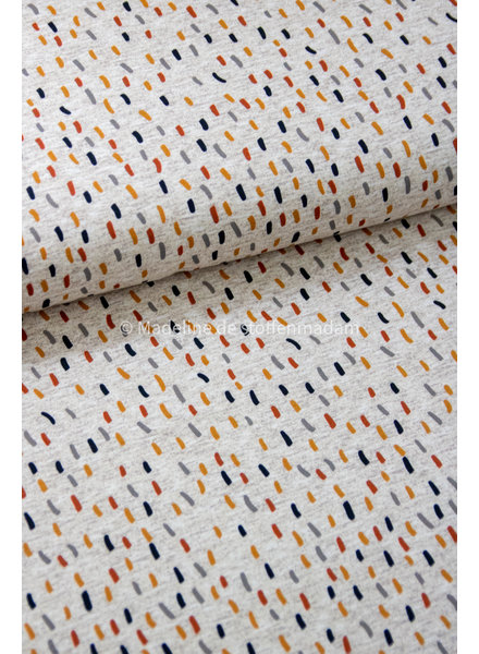 Swafing confetti stripes ocre - french terry