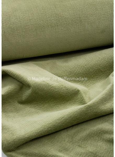 La Maison Victor Jack hemd - green tea - licht rekbare corduroy
