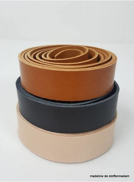 black leather handles - 28 mm