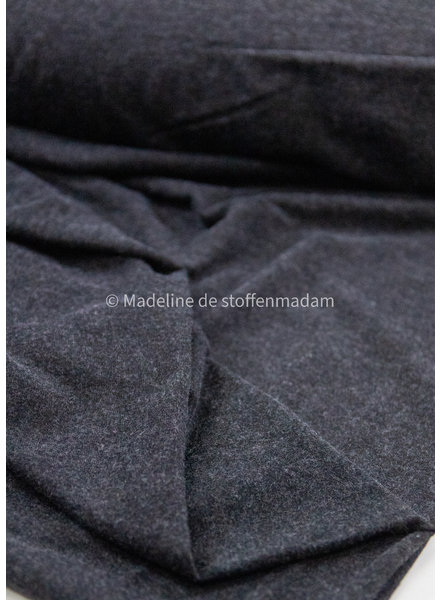 M antraciet - superzachte gemeleerde viscose tricot