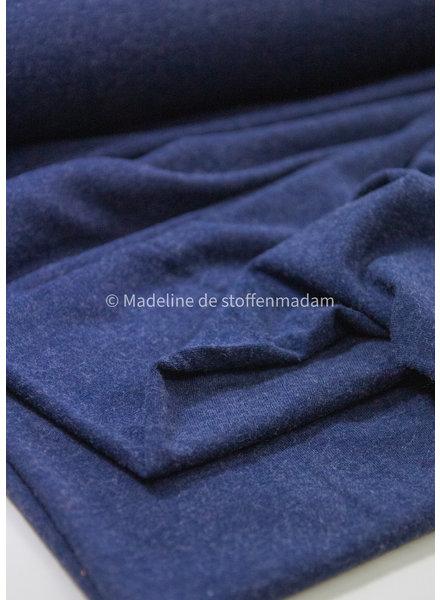M marineblauw- superzachte gemeleerde viscose tricot