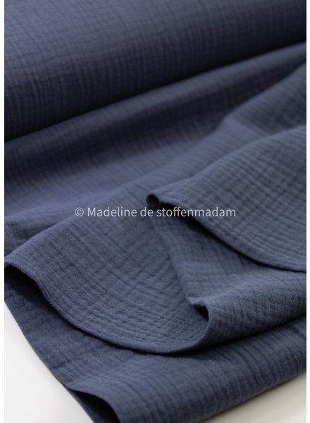 M grey blue - double gauze tetra