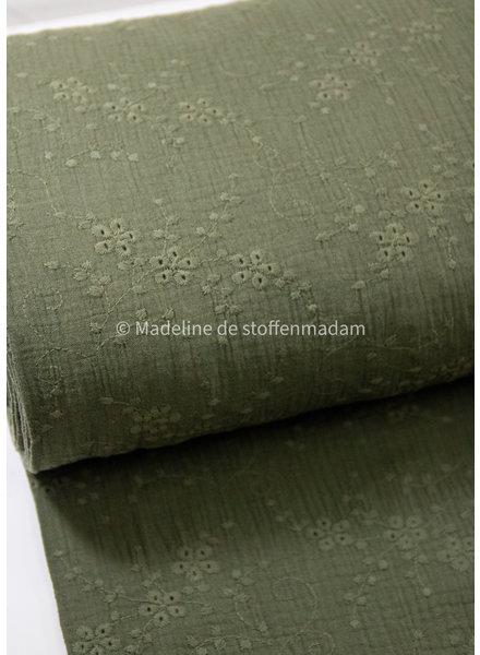 M khaki - soft embroidery tetra