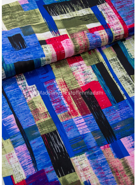 M explosion of blue colors - woven viscose