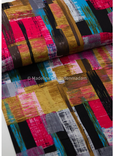 M explosion of pink colors - woven viscose