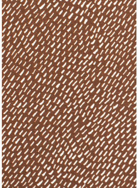 Swafing mini streepjes - tricot - bruin