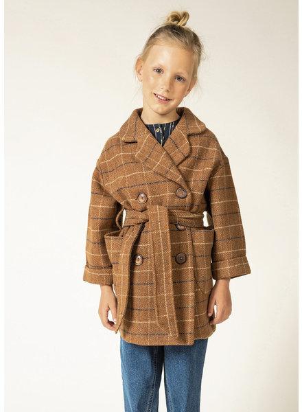 La Maison Victor rusty diamonds - coat fabric