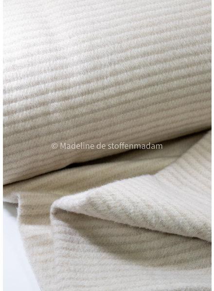M creme textured - coat fabric 40% wool