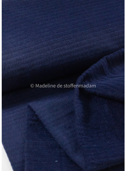 M navy textured - coat fabric 40% wool