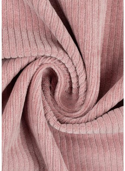 M oudroze - rekbare corduroy - hele mooie vormvaste kwaliteit