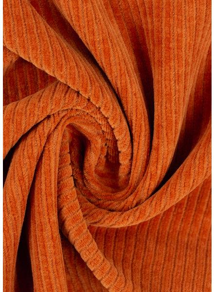 M BURNED orange - stretch corduroy
