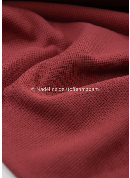 M marsala - textured knit