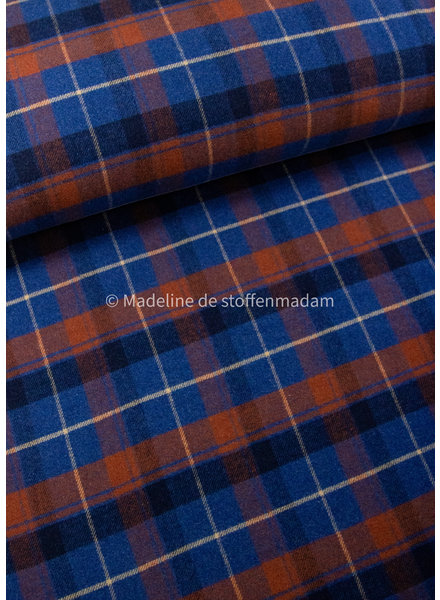 Editex kobalt blue diamonds - soft coat fabric