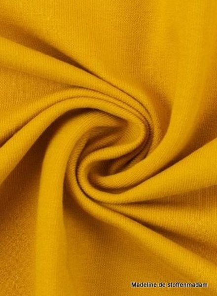 Swafing ochre yellow - solid french terry - GOTS