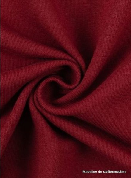 Swafing dark red - solid french terry - GOTS