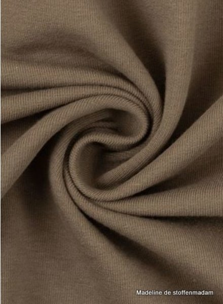 Swafing taupe - solid french terry - GOTS