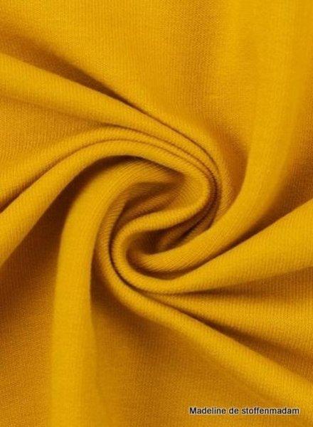 M ochre yellow - cuff fabric - GOTS