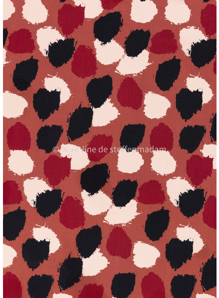 Swafing coral and black spots - viscose