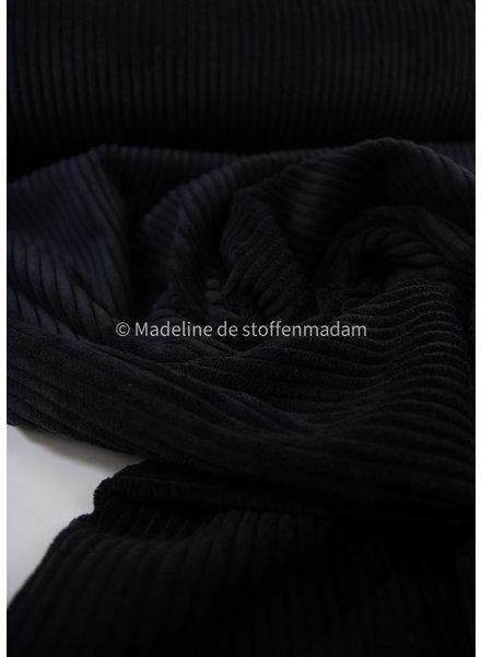 black corduroy - viscose blend