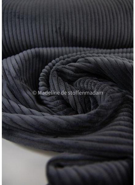 dark grey corduroy - viscose blend