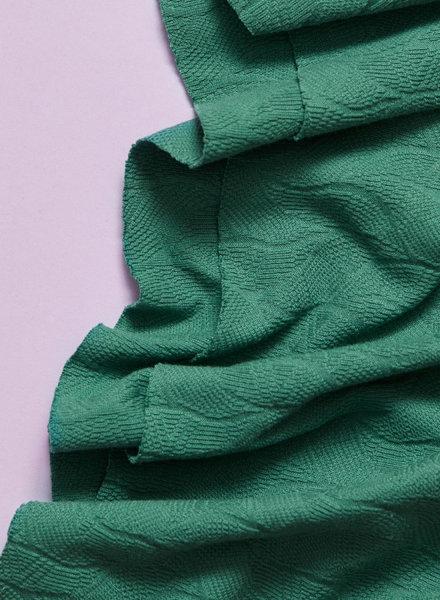 Mind The Maker chalky green - organic leaf jacquard