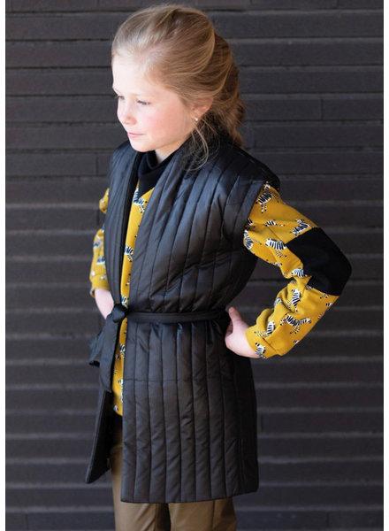 M black - double face - matelassed fabric