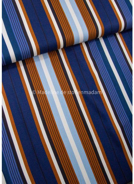 M stripes - viscose twill