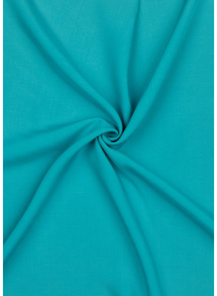 turquoise effen viscose