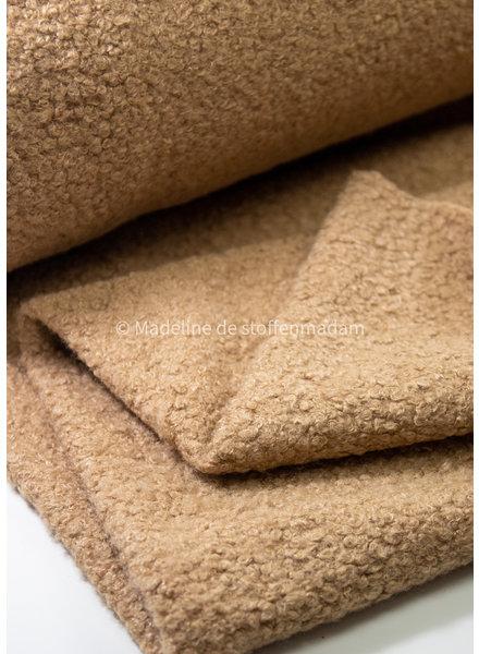 M camel - boucle coat fabric