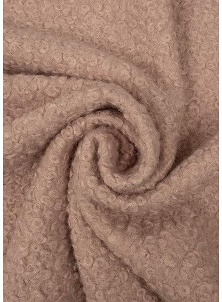 M dusty pink - boucle coat fabric