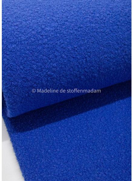 M cobalt - boucle coat fabric