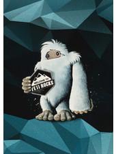 Swafing Yeti rocks - Thorsten Berger - paneel van 65 cm - french terry