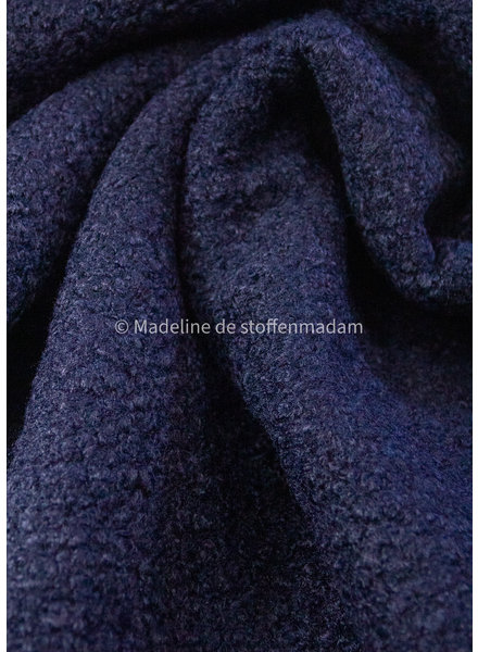 M navy - boucle coat fabric