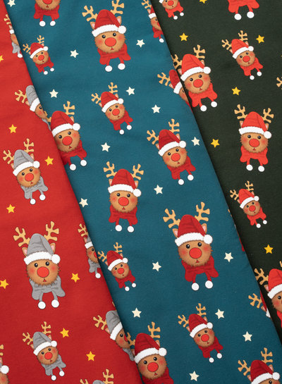 Swafing Rudolf petrol - Christmas - french terry