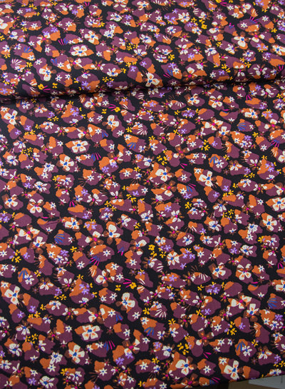 M Madeliefjes - lila - soft touch viscose