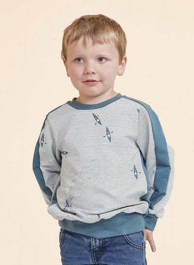 about blue fabrics effen spons - rekbare badstof UNI 8 Blue Spruce