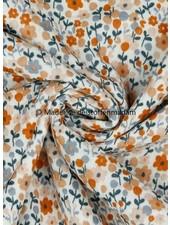Poppy fabrics little flowers  - tetra double gauze