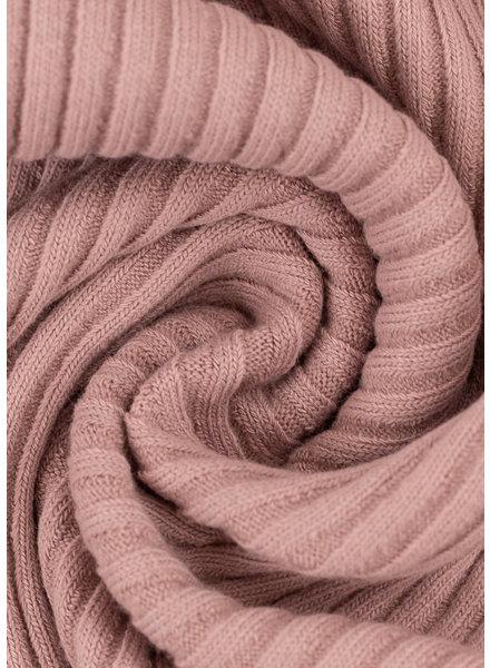 Swafing roze - extra dikke ribbel boordstof